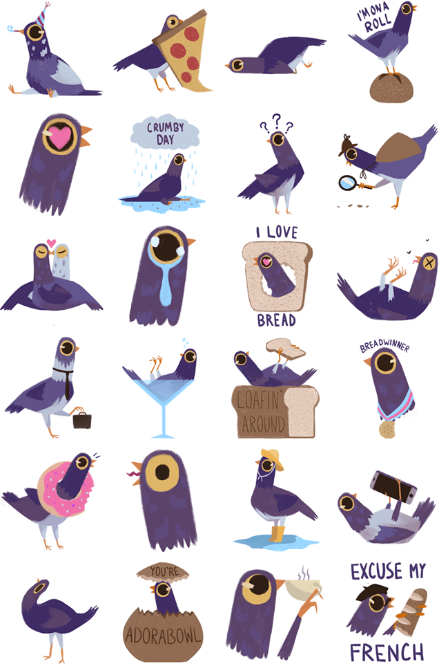 trash doves sticker