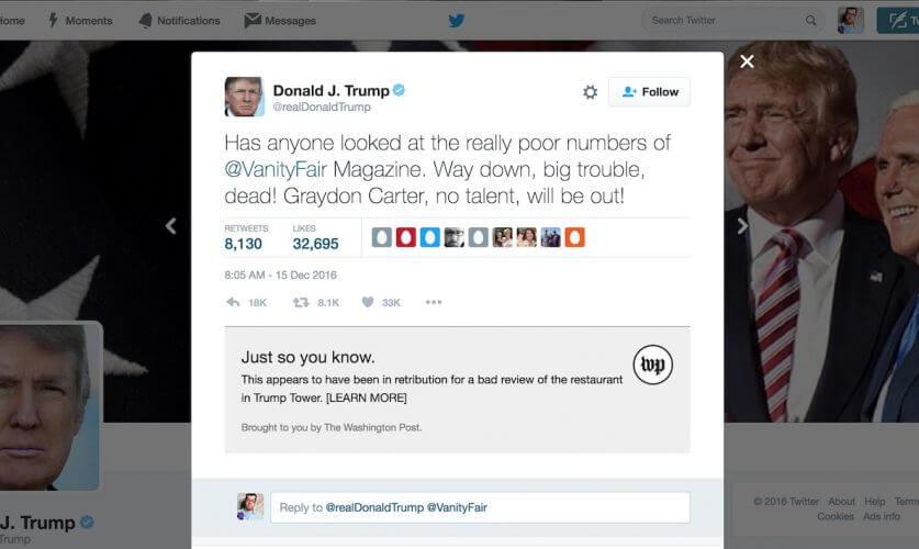Realdonaldcontext Neue Chrome Extension Checkt Donald