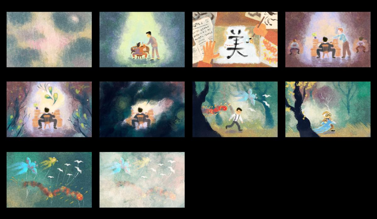 tyrus wong video doodle entwurf