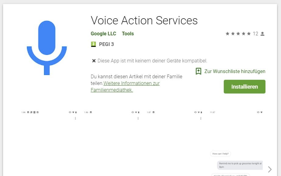 voice action services