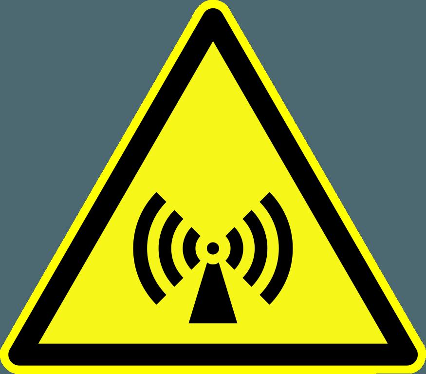 warnung vor strahlung