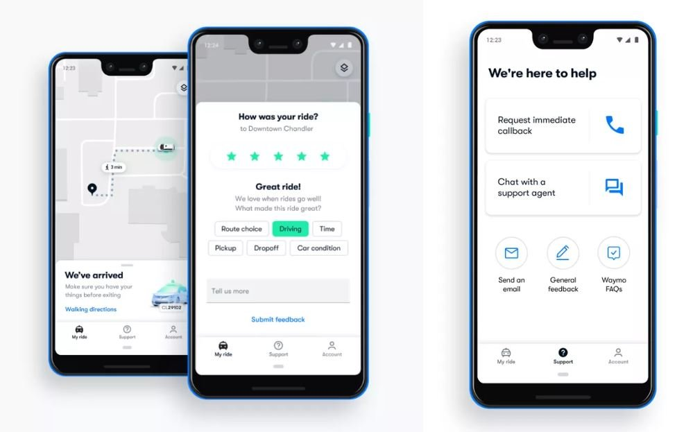 waymo app feedback