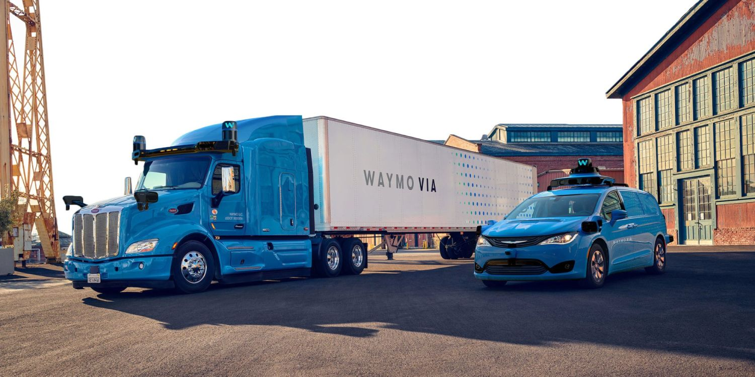 waymo via truck and car