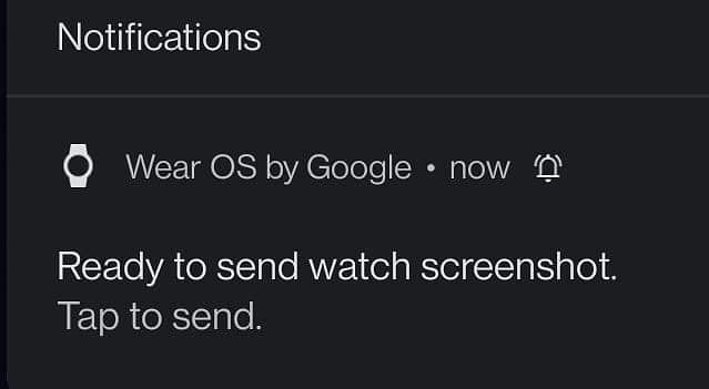 wear os screenshot watch