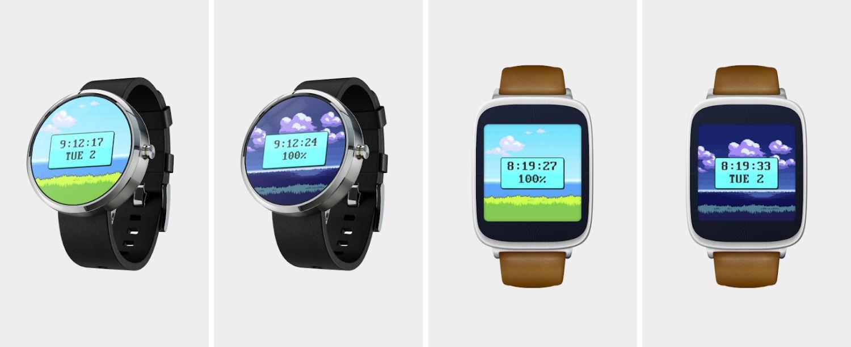 wear os watch face 8 bit game
