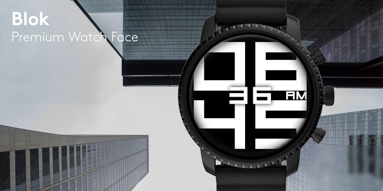 wear os watch face blok