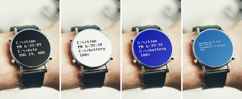 wear os watch face dos screenshots