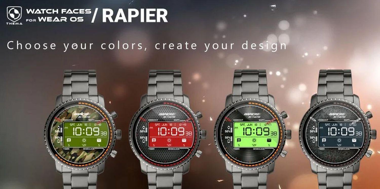 wear os watch face rapier