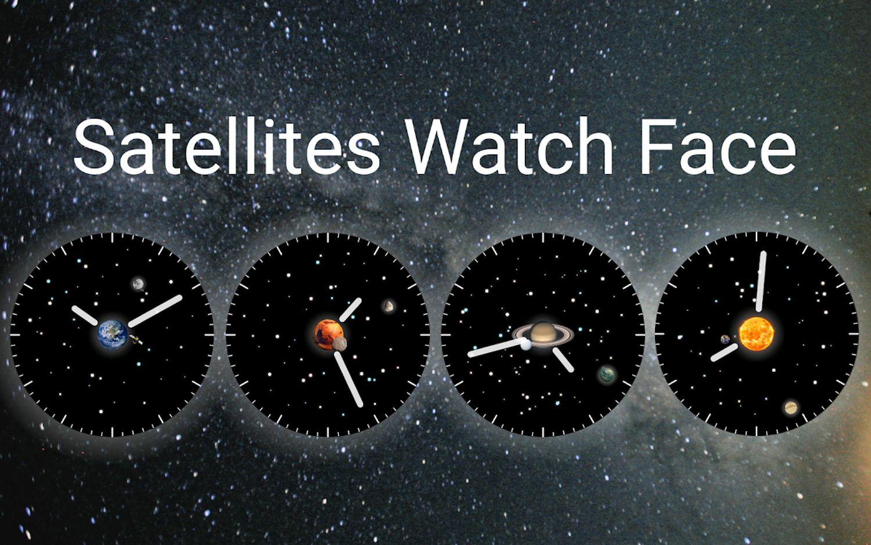 wear os watch face satellites beispiele