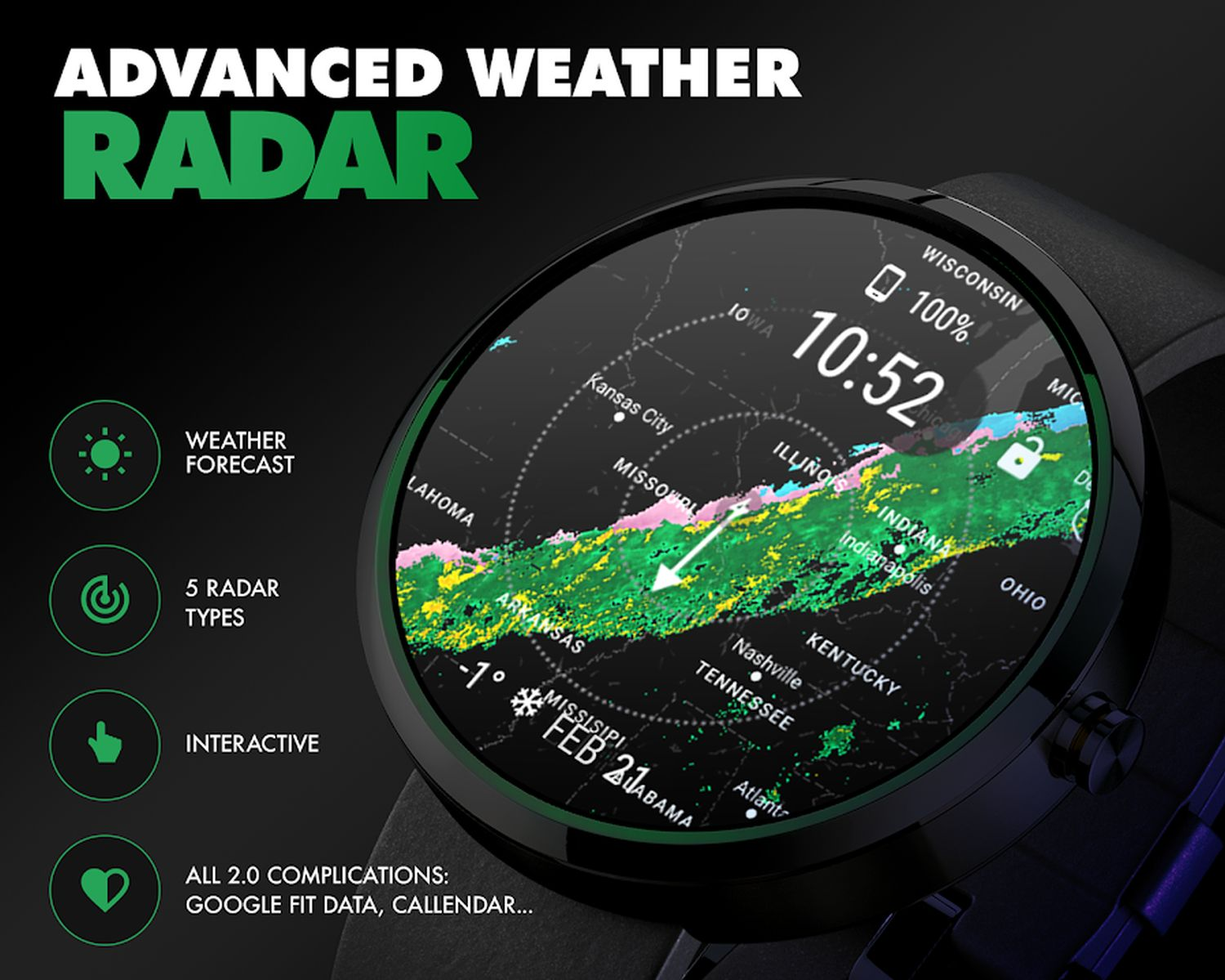 wear os watch face weather cover