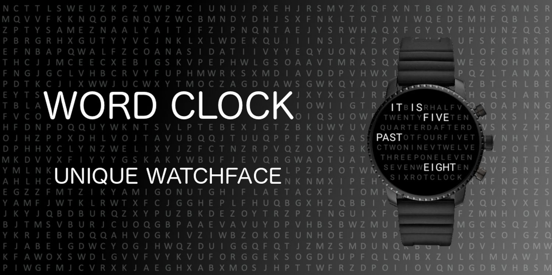 wear os watch face word clock