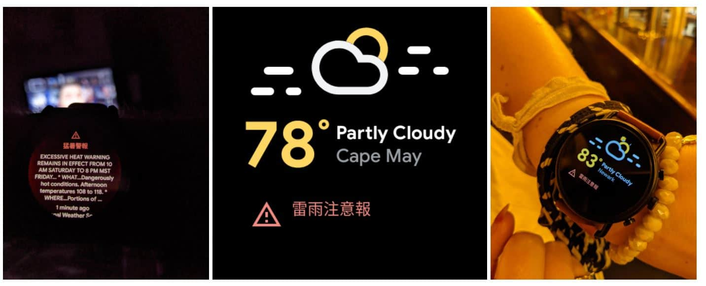 wear os wetterwarnung