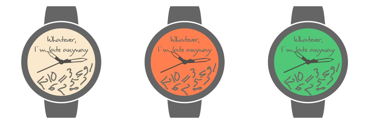 wear os whatever watch face color