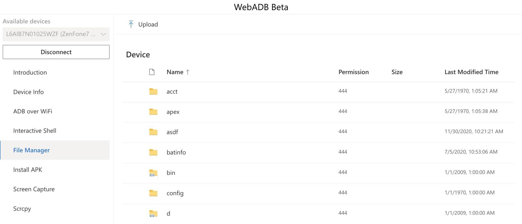 webadb files