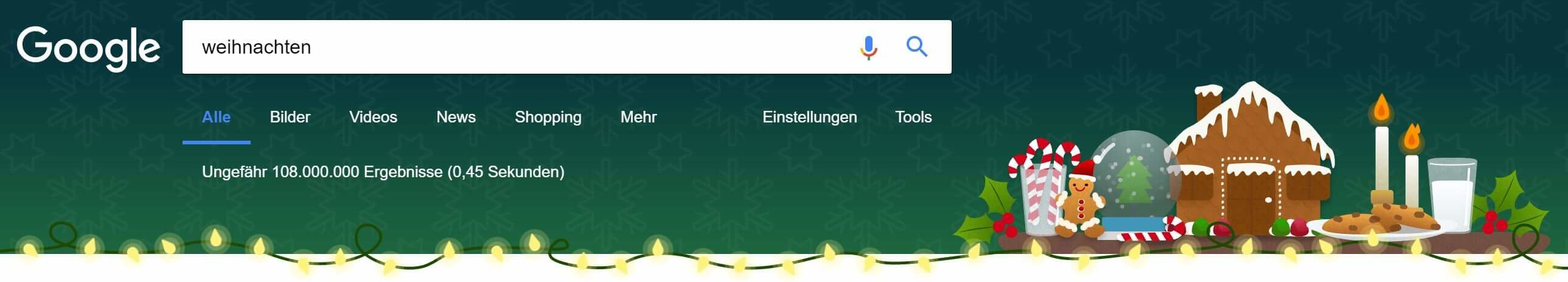 weihnachtliches google doodle feiertage 2017 tag 1 gwb. Black Bedroom Furniture Sets. Home Design Ideas