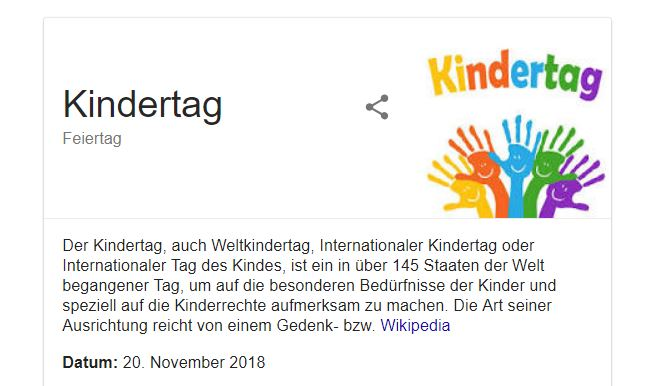 weltkindertag 2018 knowledge graph