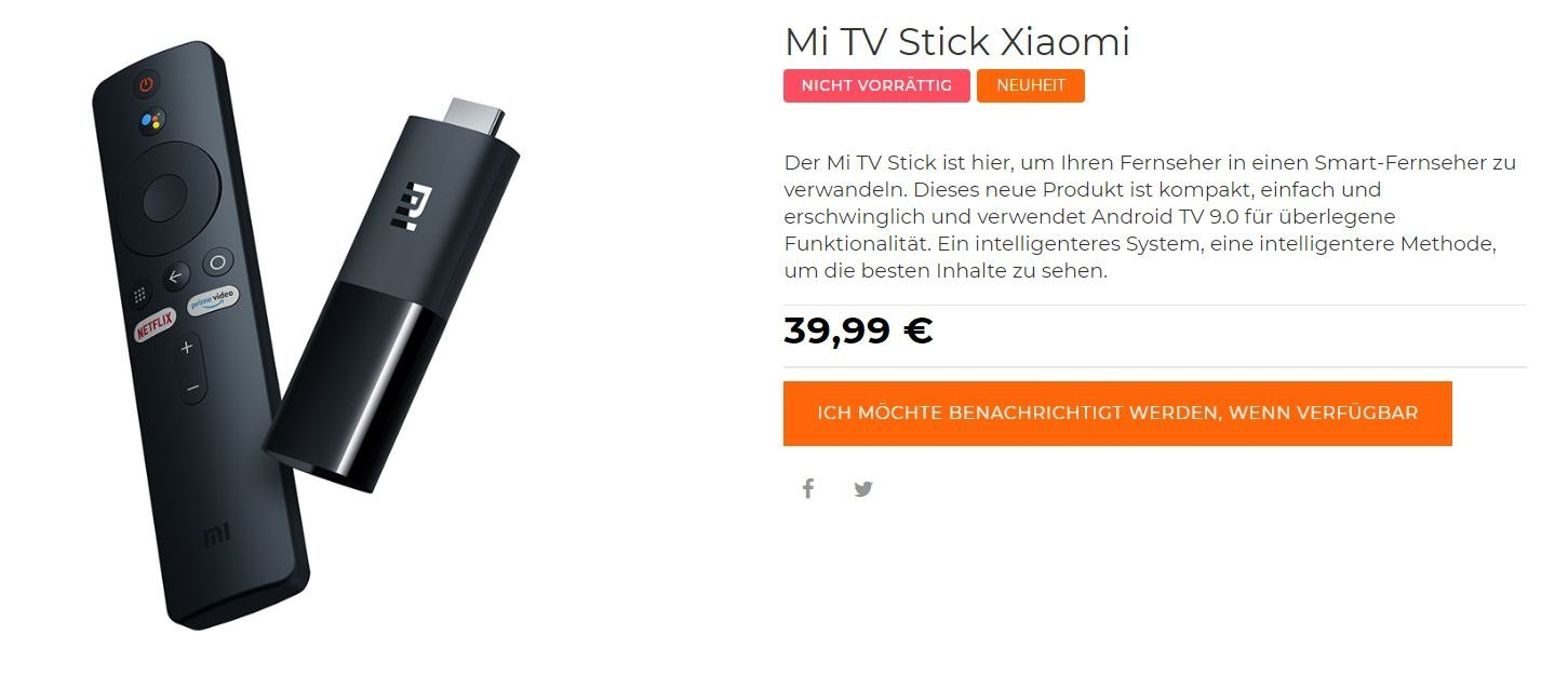 xiaomi mi tv stick store listing