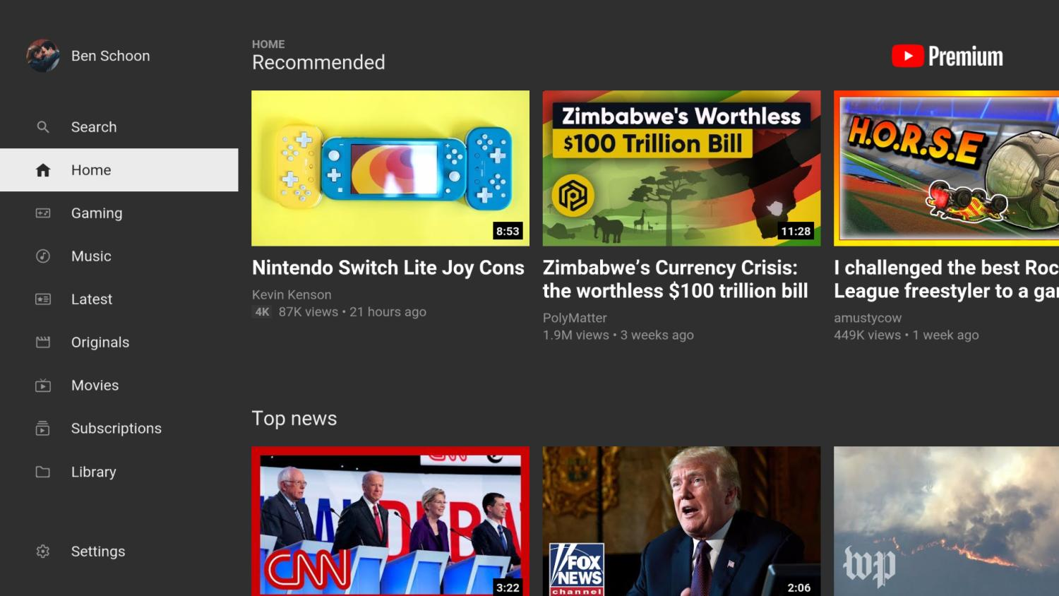 youtube android tv new design 2