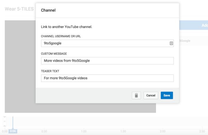 youtube card create