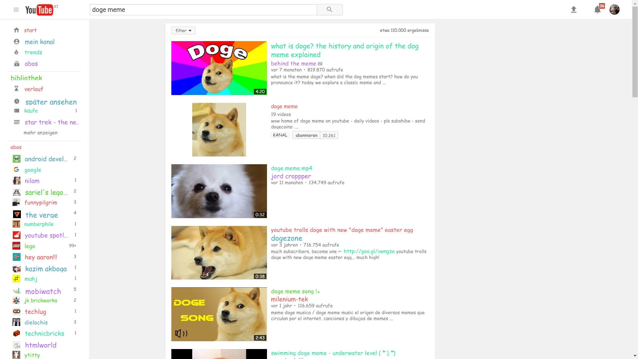 youtube doge meme