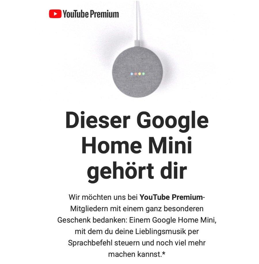 youtube google home mini
