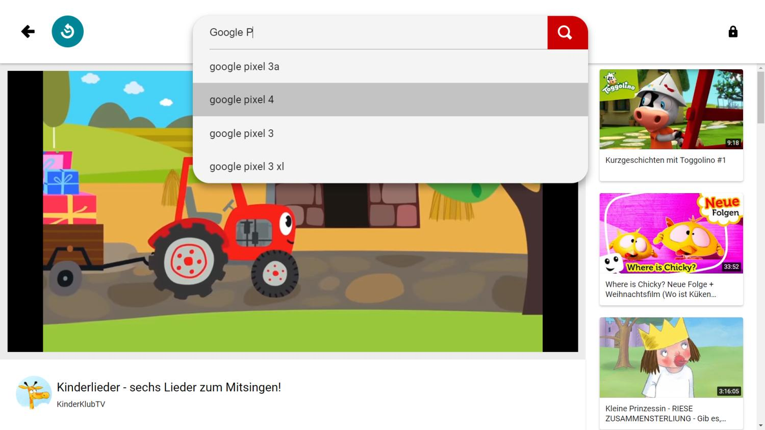 youtube kids videoplay
