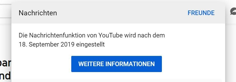 youtube messenger einstellung