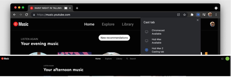 youtube music cast desktop
