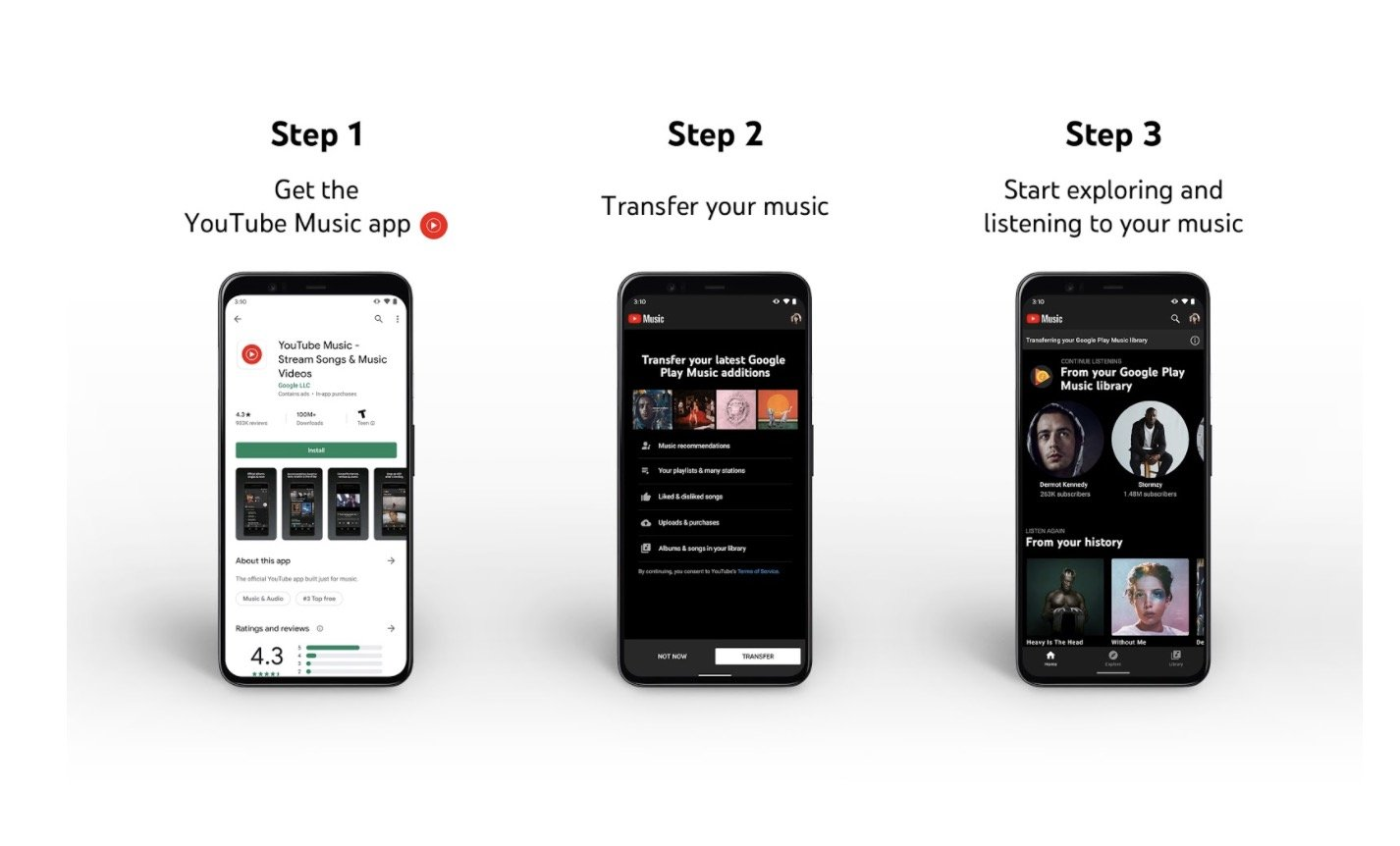 youtube music transfer