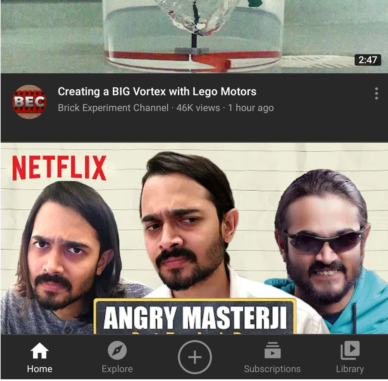 youtube navigation upload