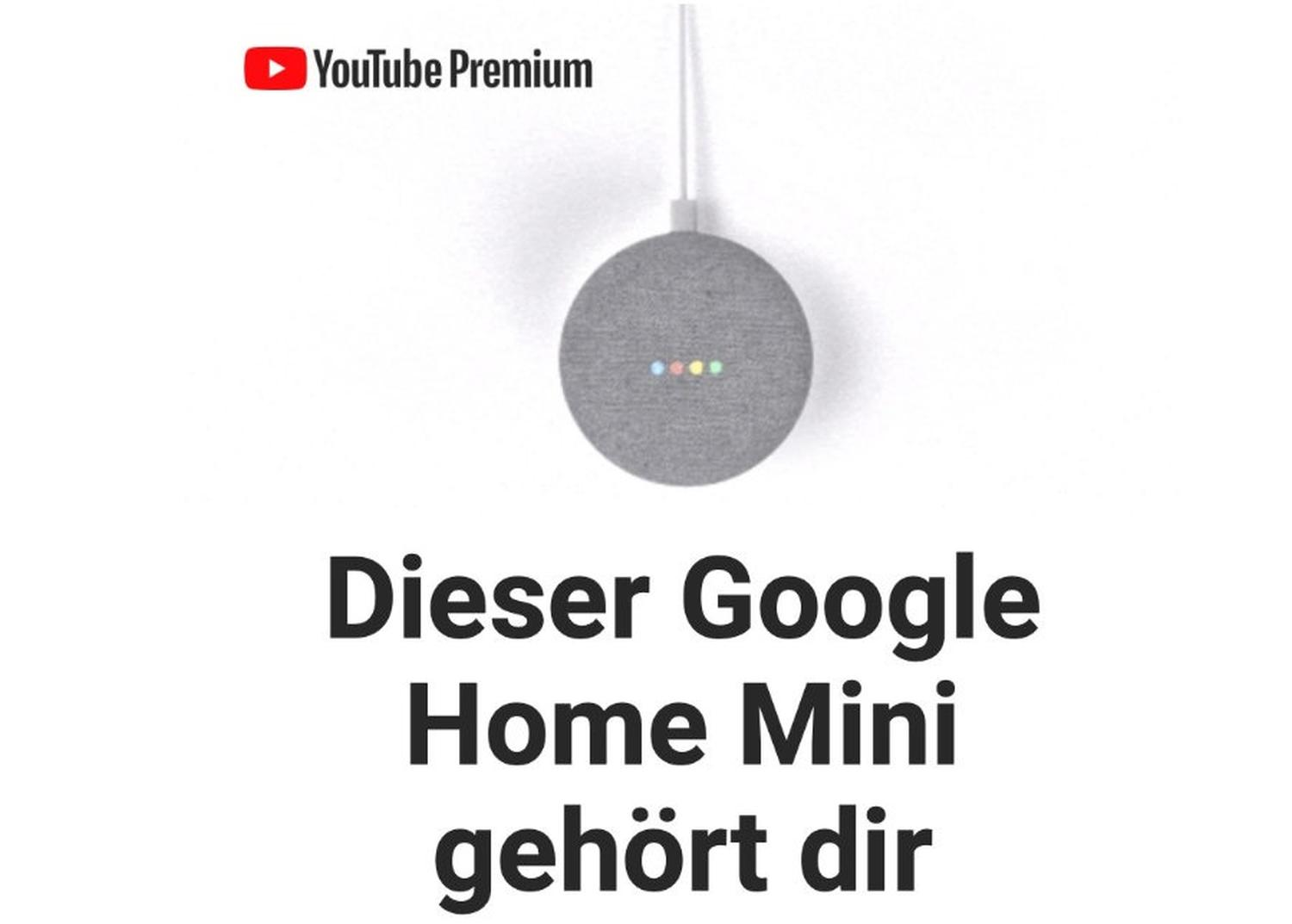 youtube premium google home mini