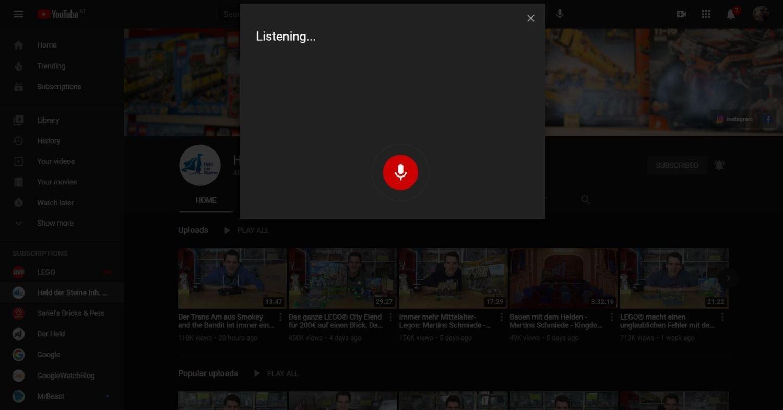 youtube sprachsuche