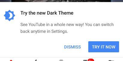 youtube try dark mode