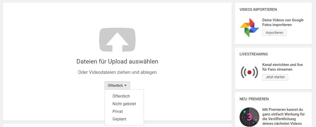 youtube upload