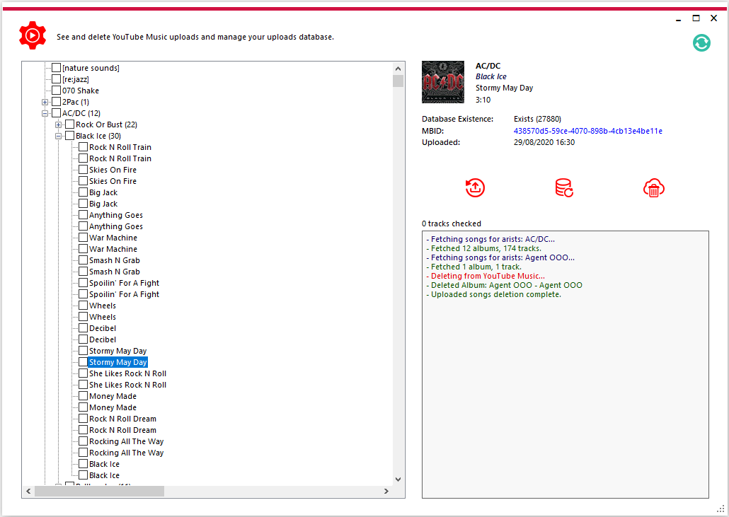 yt music uploader settings